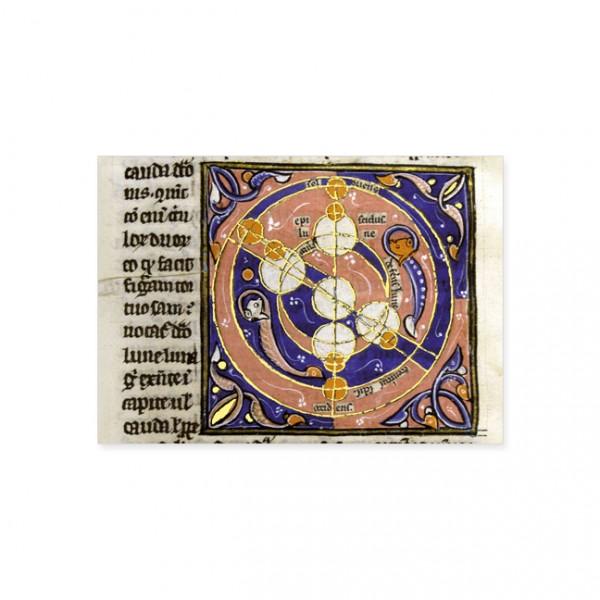 "Postkarte Gold ""Mondzyklus"""