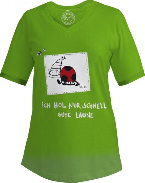 """T-shirt """"Ich hol nur schnell gute Laune"""""""