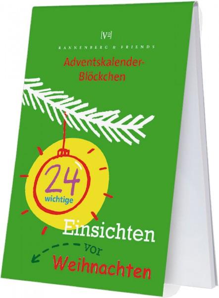 Adventskalenderblöckchen '24 wichtige Einsichten vor Weihnachten' von Jutta Wetzel -RSBW 007