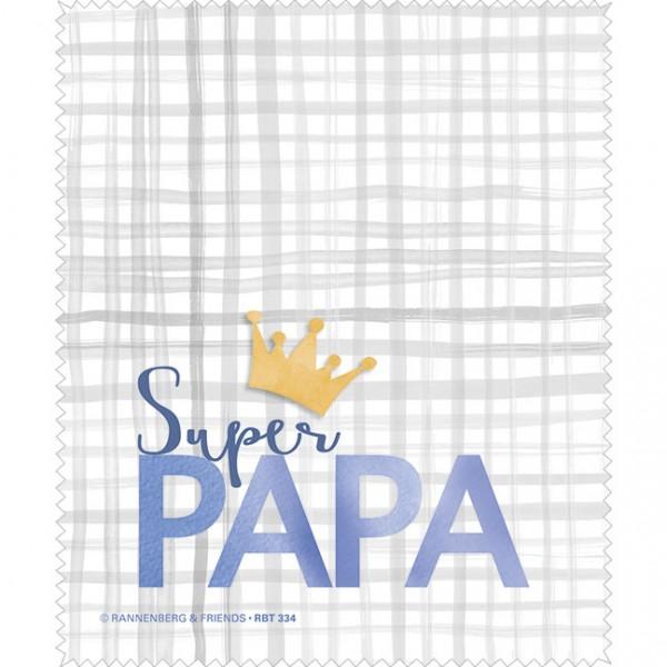 """Brillenputztuch """"Super Papa"""""""