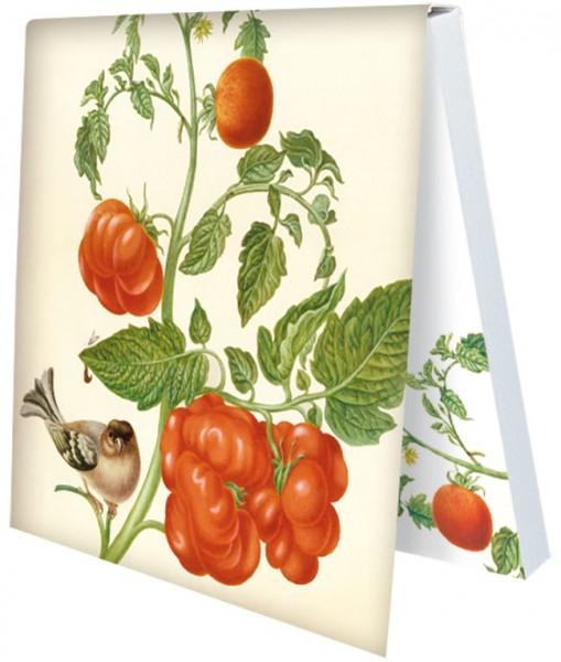 """Klebezettel """"Tomaten und Buchfink"""""""