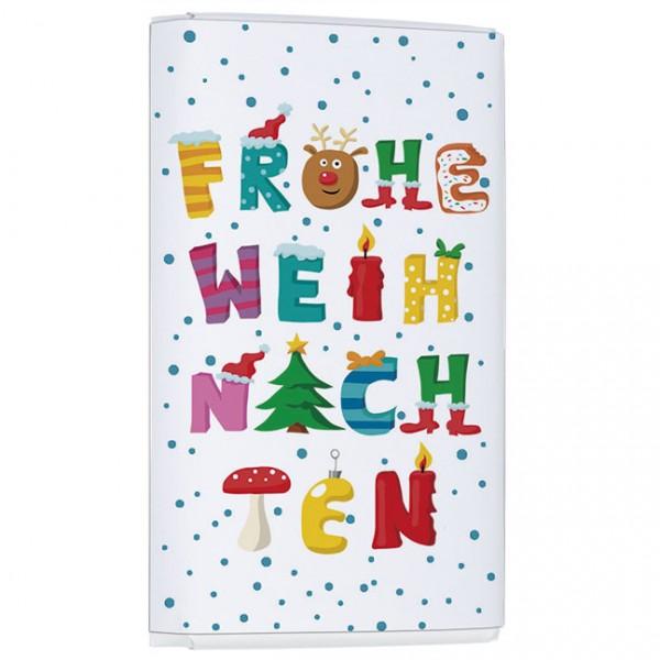 """X-mas Schoko-Täfelchen """"Frohe Weihnachten"""""""