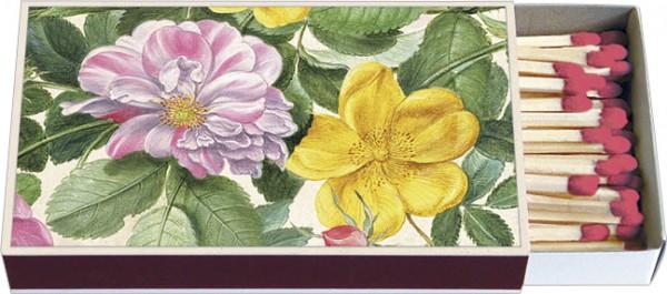 Zündholz-Schachtel 'Rosen aus dem Nassau Florilegium'
