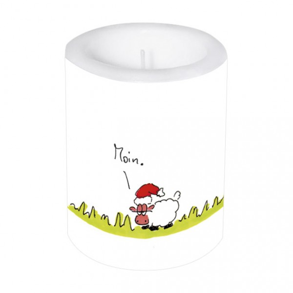 Lampionkerze groß Weihnachten 'Moin Weihnachten'