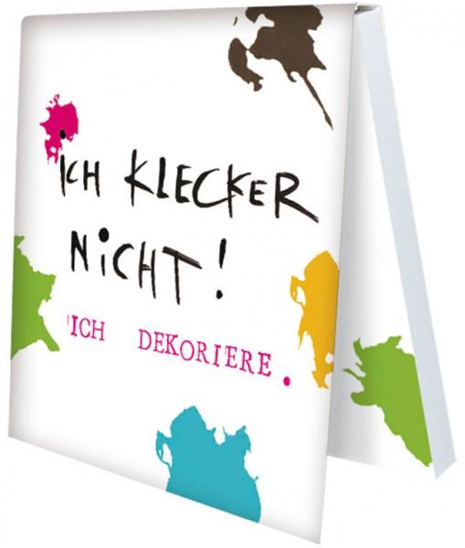 Klebezettel 'Ich klecker nicht'