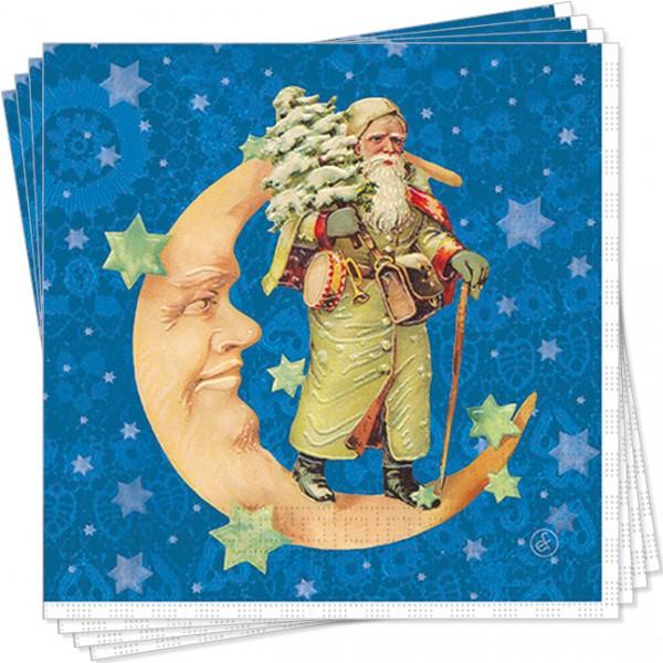 Servietten X-Mas 'Weihnachtsmann im Mond'