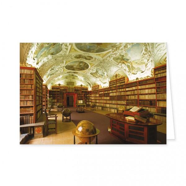 """Doppelkarte """"Barocke Klosterbibliothek"""""""