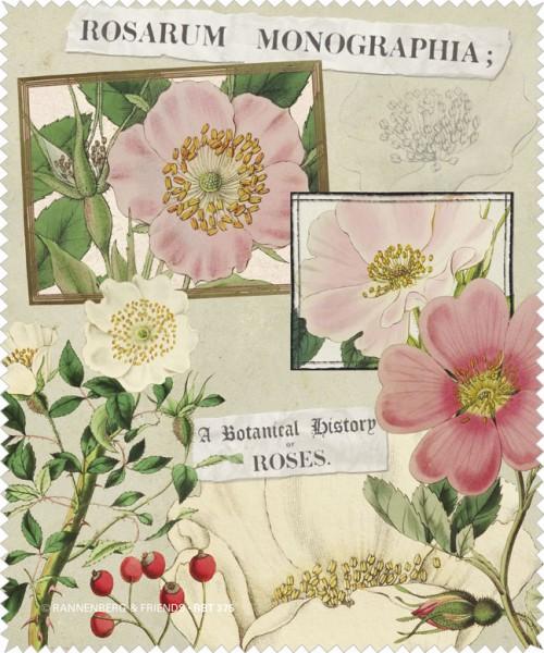 """Brillenputztuch """" Rosarium Monographia """""""