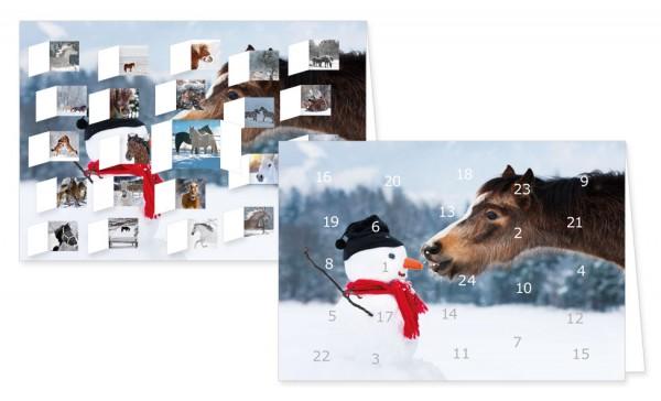 "Adventskalenderkarten ""Pferde im Schnee"""