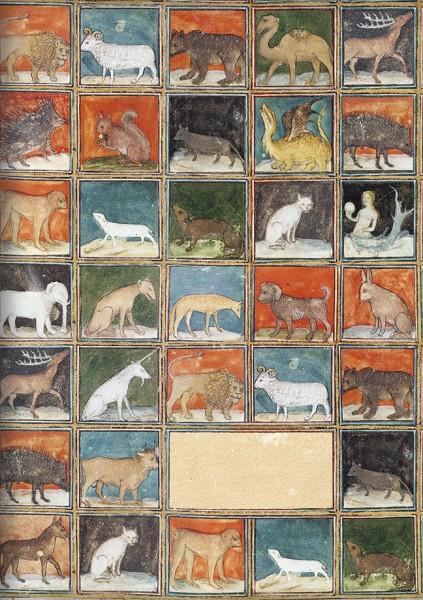 Kladden A5 'Mittelalterliche Buchmalerei Bestiarium' aus Le Livre des Proprietes des Choses