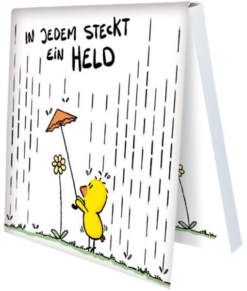 Klebezettel 'In jedem steckt ein Held' von Alexander Holzach