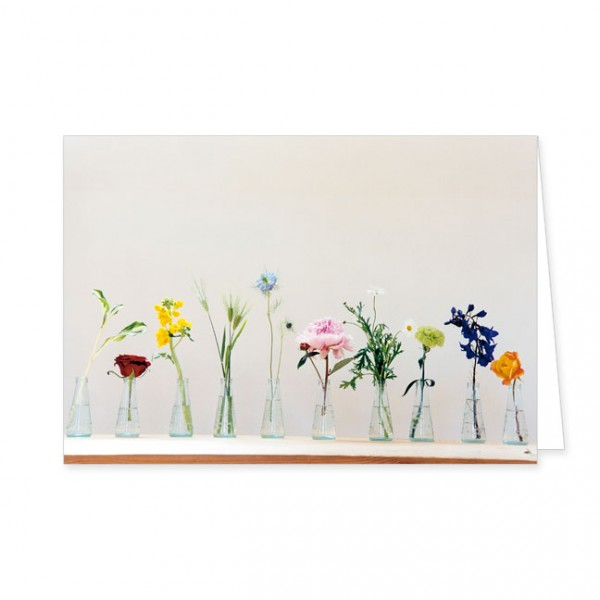 "Doppelkarte ""Blüten in Flaschen"""