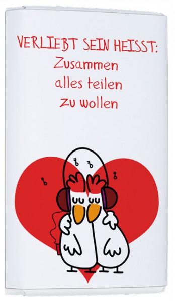 """Schokoladen-Täfelchen """"Verliebt sein … Alles teilen"""""""