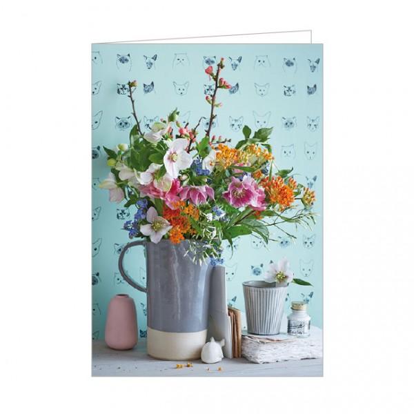 """Doppelkarte """" Bouquet Printemps """""""