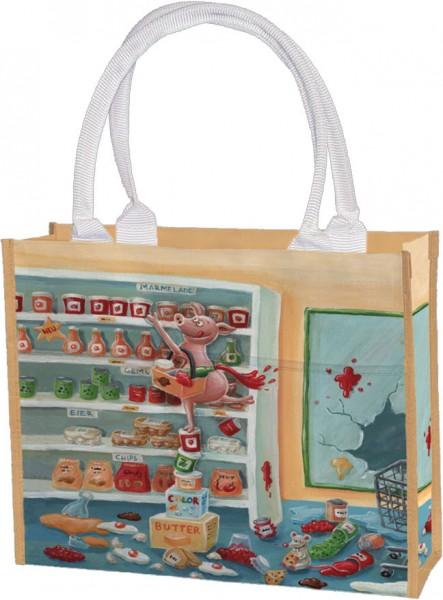 Einkaufstasche 'Supermarkt-Chaos'