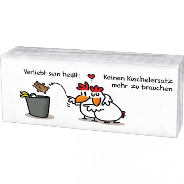 """Taschentücher """"Verliebt sein … Kuschelersatz"""""""