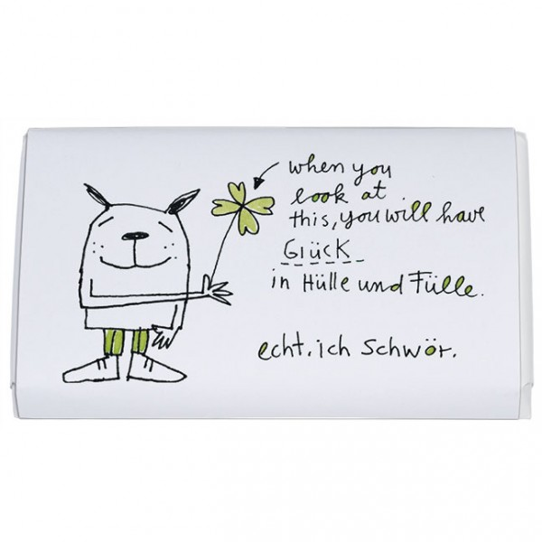 """Schokoladen-Täfelchen """"Glück in Hülle und Fülle"""""""