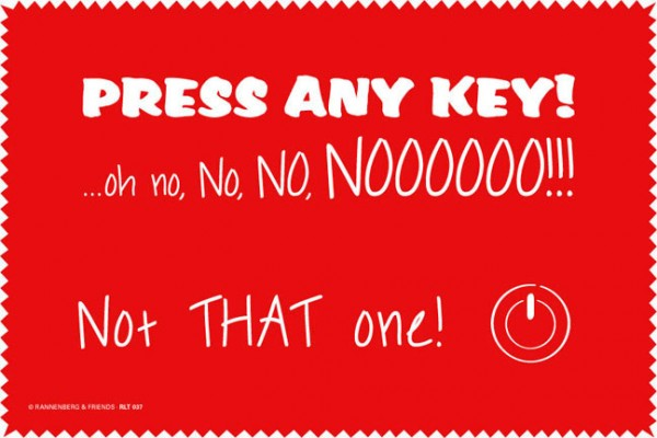 Laptoptuch 'Press Any Key'