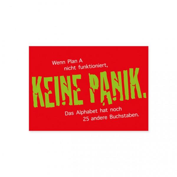 """Postkarte """"Keine Panik"""""""