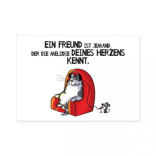 "Postkarten Large ""Catzz - Melodie des Herzen"""