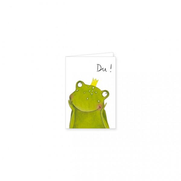 """Mini-Doppelkarte """"Frosch der Herzensbrecher"""""""