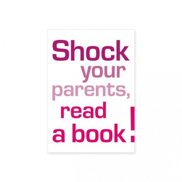 "Postkarte ""Shock your parents"""