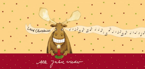 "XXL-Postkarte X-Mas ""Last Christmas"""