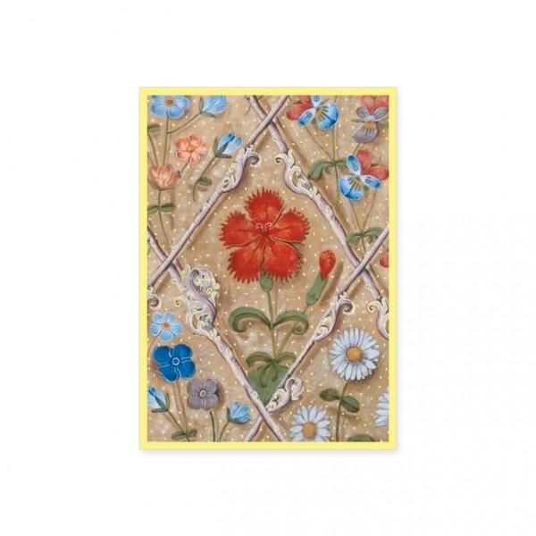 """Postkarte Gold """"Breviar der Isabella von Kastilien"""""""