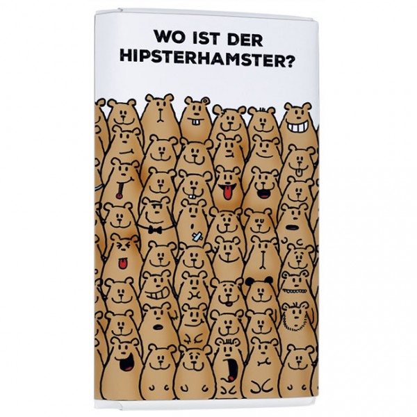 Schokoladentäfelchen 'Für's Hirn Hipsterhamster' von Alexander Holzach