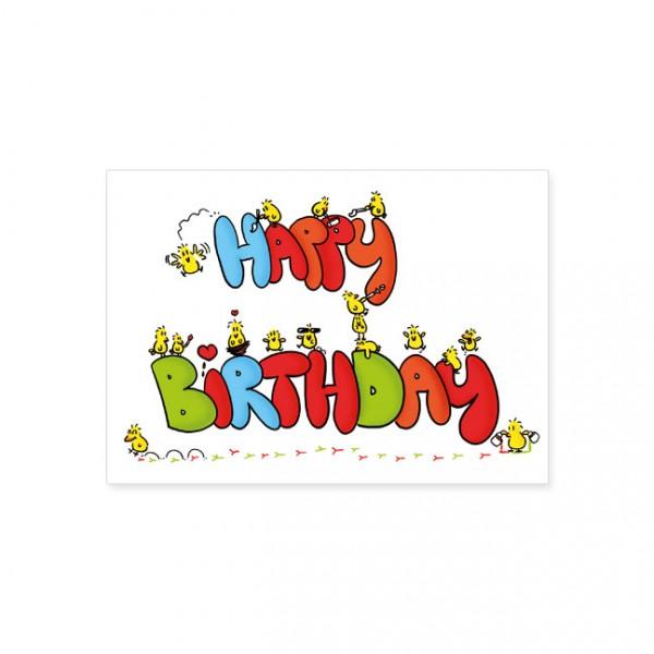 """Postkarte """"Happy Birthday - Alle machen mit"""""""