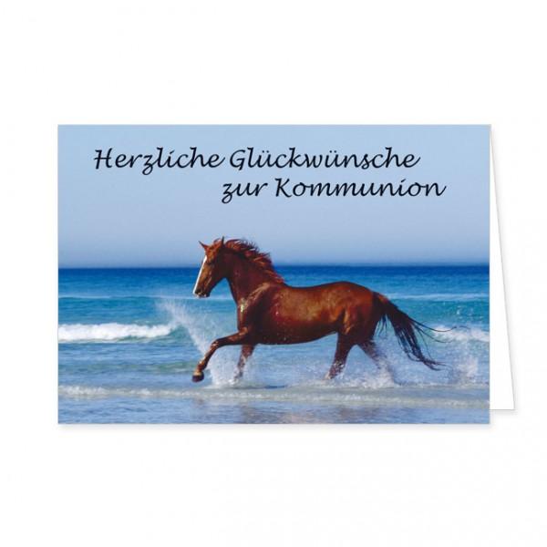 """Doppelkarte """"Herzliche Glückwünsche zur Kommunion"""""""
