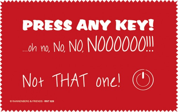 Netbooktuch 'Press Any Key'