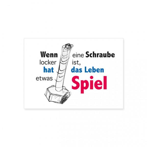 "Postkarte ""Schraube locker"""