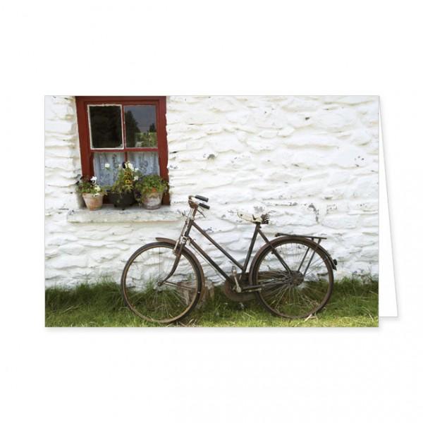"Doppelkarten ""Fahrrad an Hauswand"""