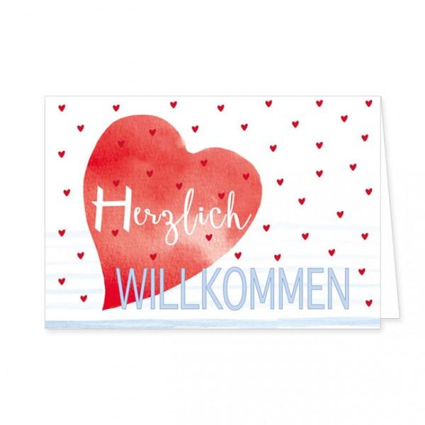 "Doppelkarte ""Herzlich Willkommen"""