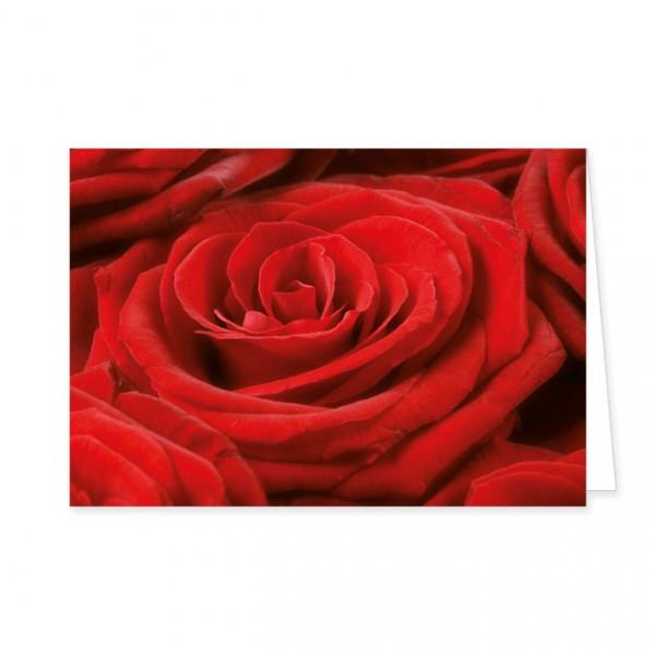 "Doppelkarte ""Rote Rose"""