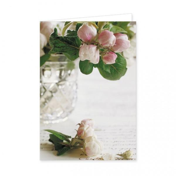 """Doppelkarte """"Apfelblüten mit Brief"""""""