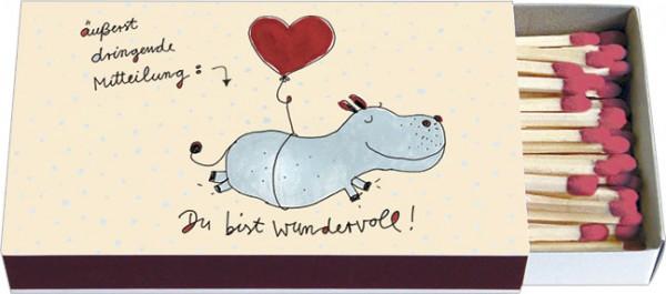 Zündholz-Schachteln 'Du bist wundervoll'