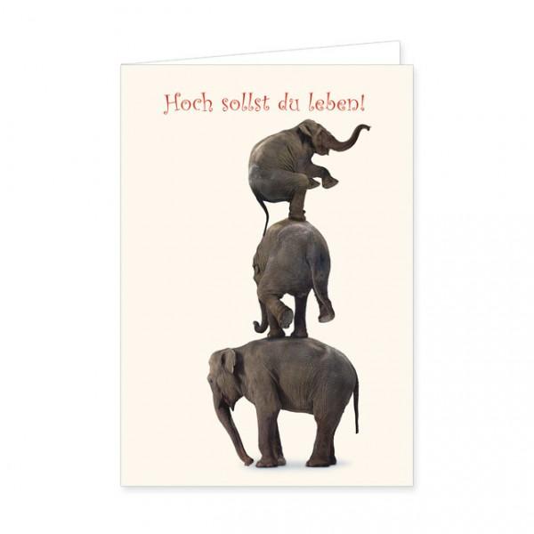 """Doppelkarte """"Elefantenturm"""""""