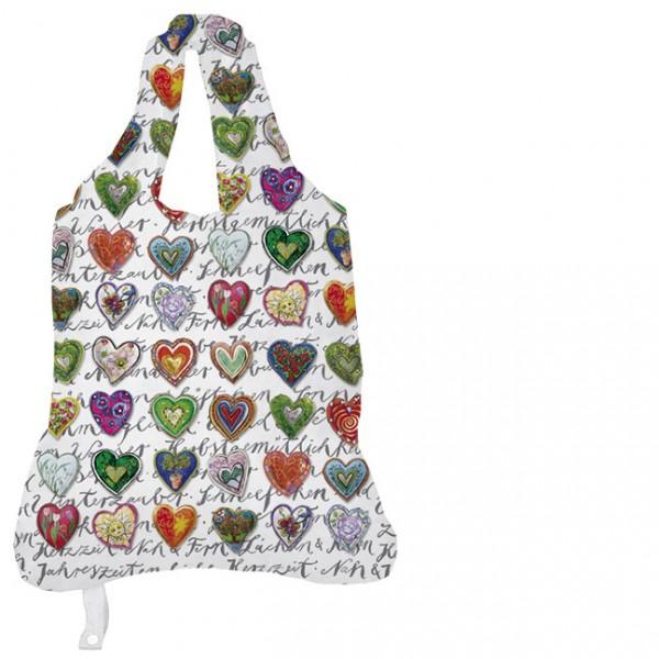 Einkaufsbeutel 'Herzzeit' von Stefanie Steinmayer