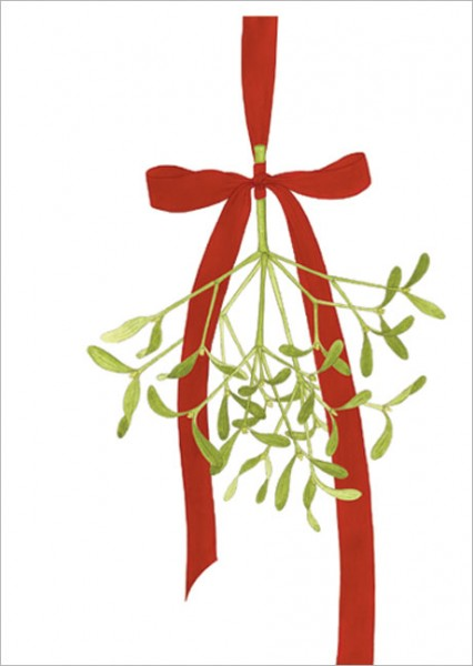 "Postkarte X-Mas ""Weihnachtsmistel"""