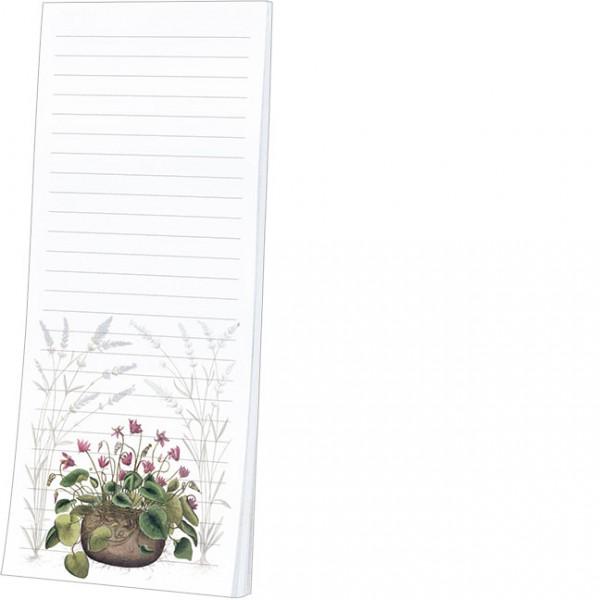 """Kühlschrankblöckchen """"Alpenveilchen und Lavendel aus dem Garten von Eichstätt"""""""