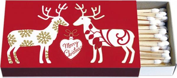 Zündholzschachteln Weihnachten 'Merry Christmas'