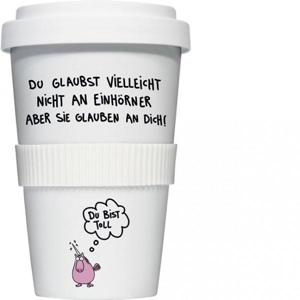 Coffee to go 'Du bist toll' von Alexander Holzach
