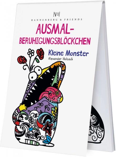 Spieleblöckchen 'Ausmalberuhigungsblöckchen - Kleine Monster' von Alexander Holzach