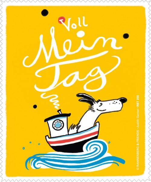 Brillenputztuch 'Voll mein Tag' von Judith Ganter