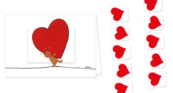 """Türchenkarte """"Für dich"""""""