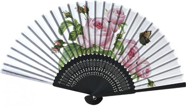 "Handfächer ""Rosa centifolia"""
