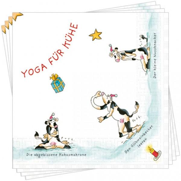 Servietten 'x-mas Yoga für Kühe'