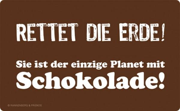 Frühstücksbrettchen 'Rettet die Erde'